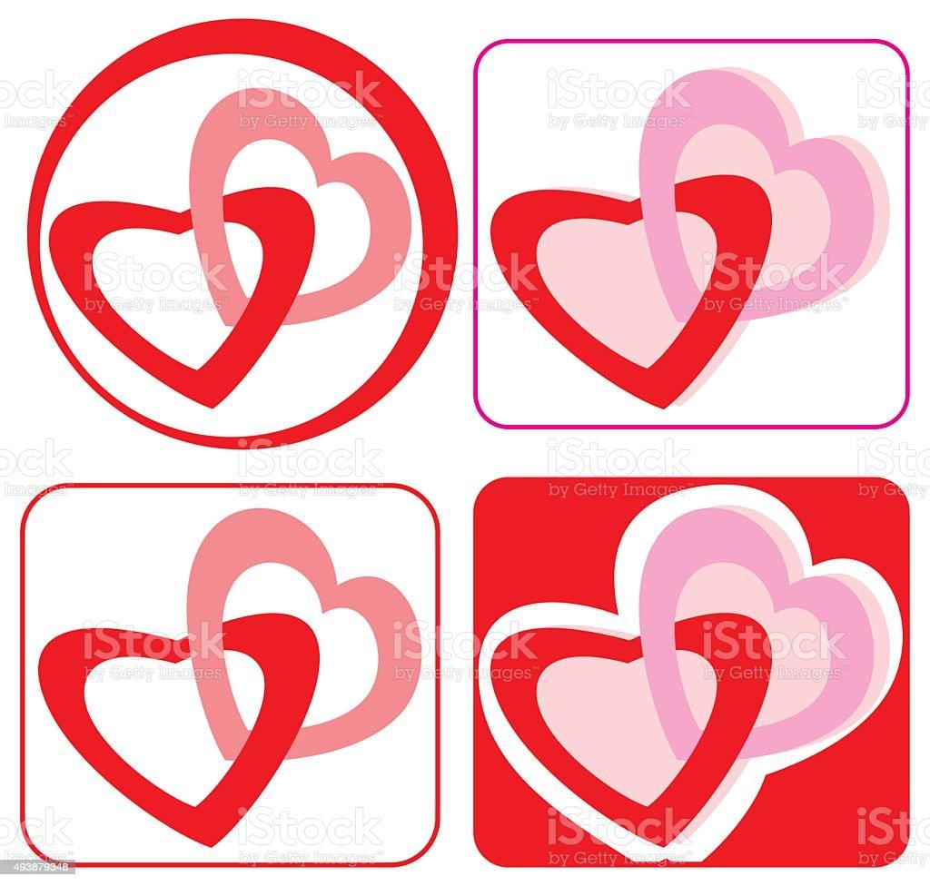 Valentine's Day.emblem. vector art illustration