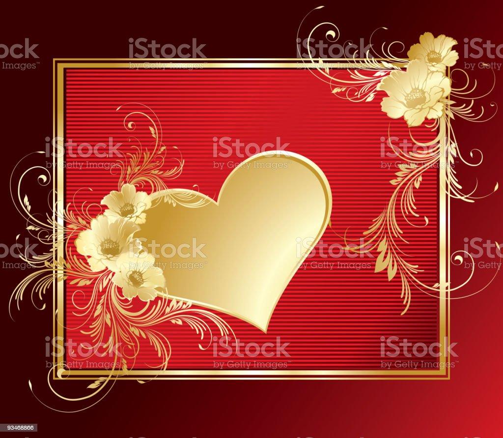 valentines frame royalty-free stock vector art