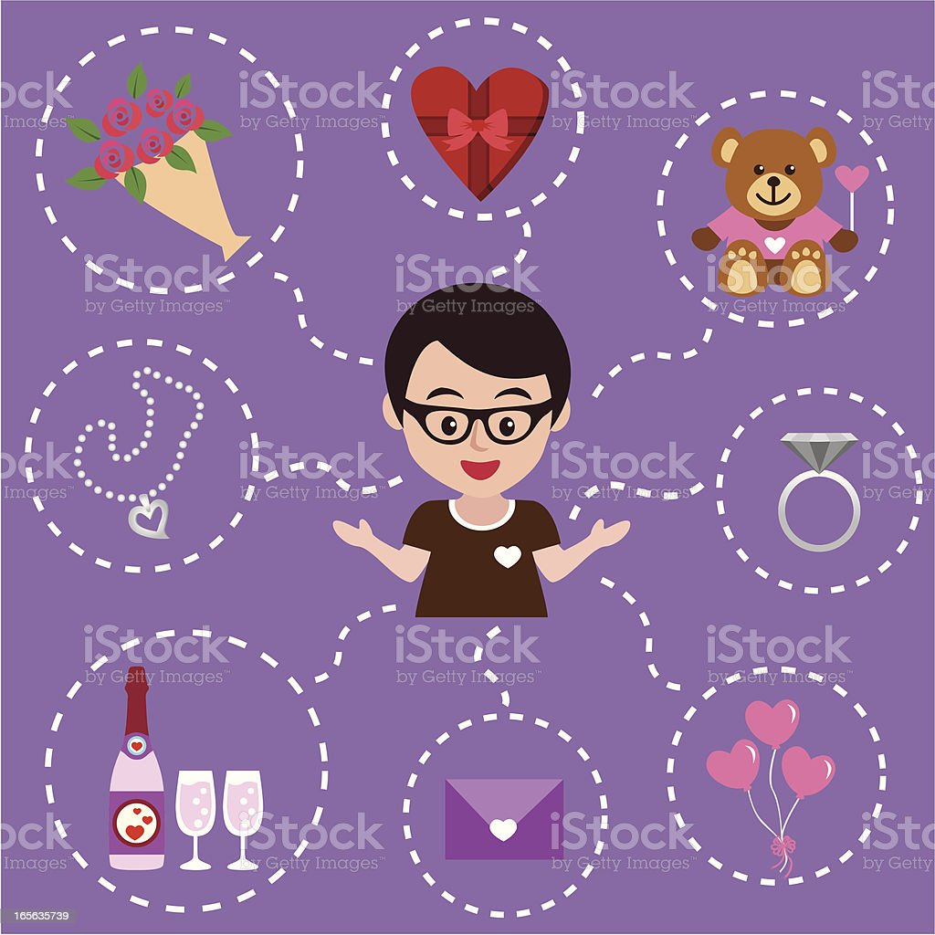 valentine's gifts ideas royalty-free stock vector art