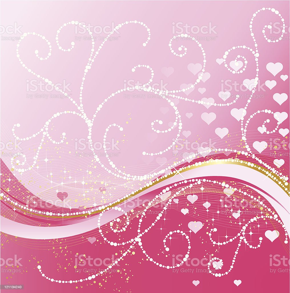 Valentines greeting background vector art illustration