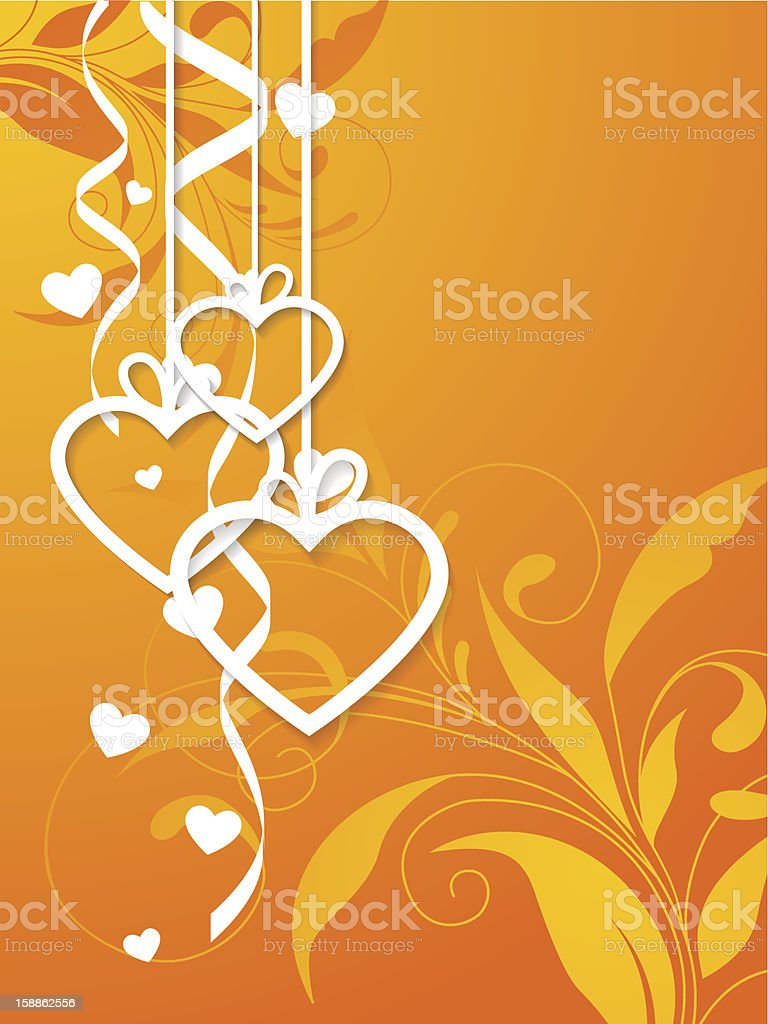 Valentines greeting card. royalty-free stock vector art