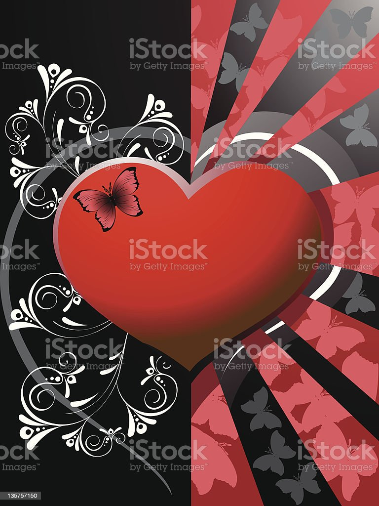 Valentines heart background royalty-free stock vector art
