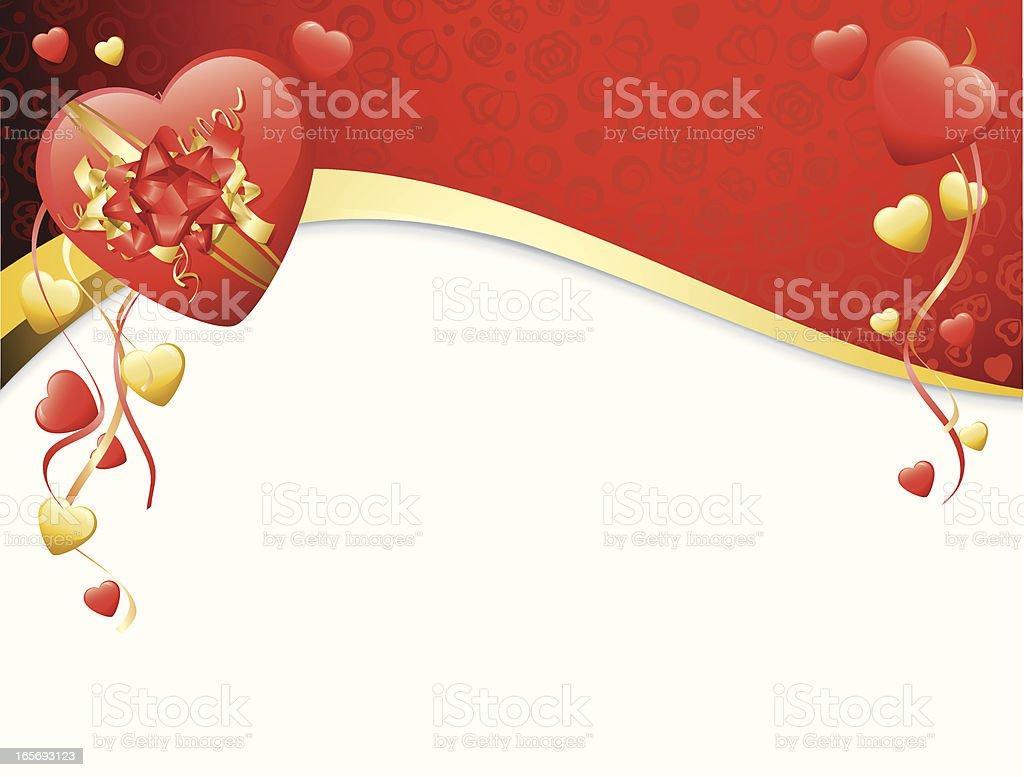 Valentine's Heart Banner royalty-free stock vector art