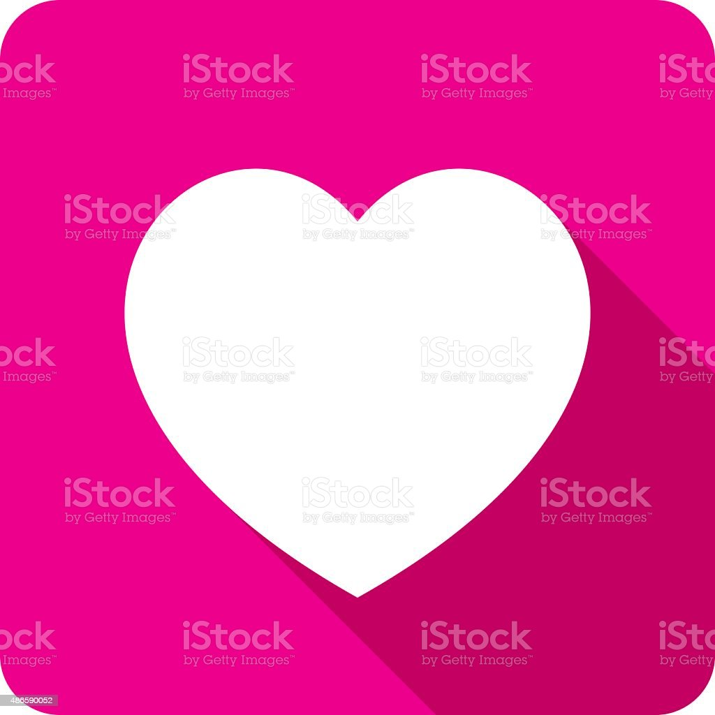 Valentines Heart Icon Silhouette vector art illustration