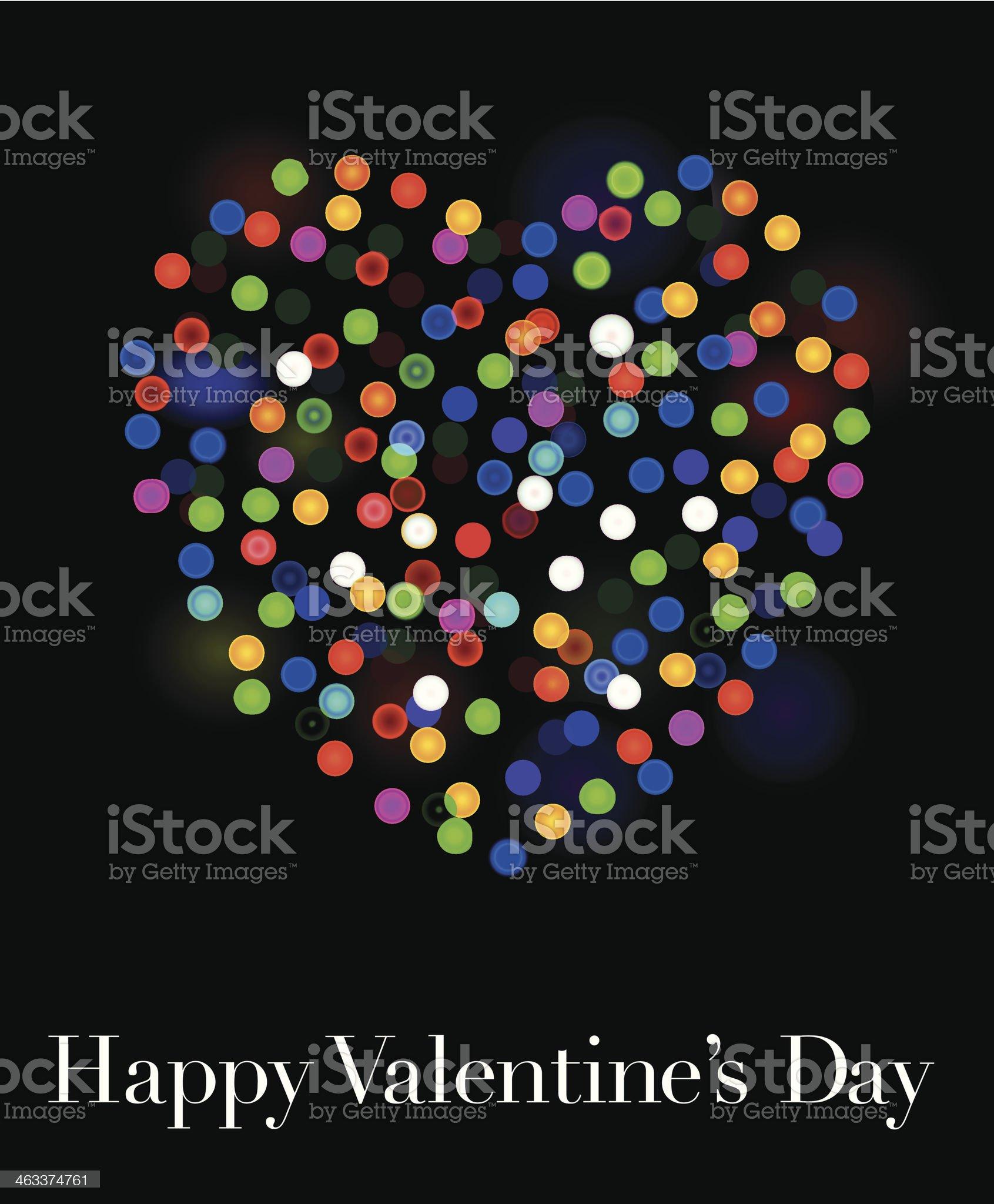 valentines heart lights royalty-free stock vector art