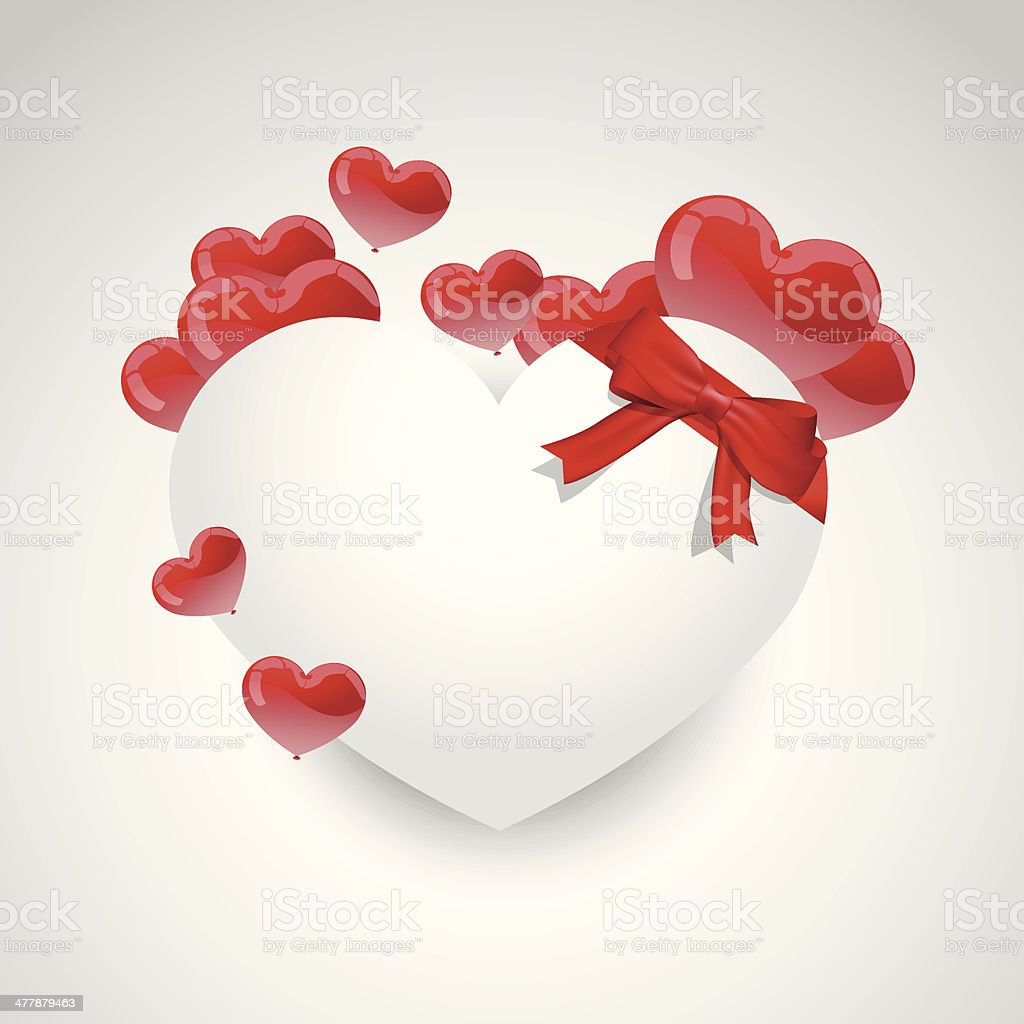 Valentines heart note royalty-free stock vector art