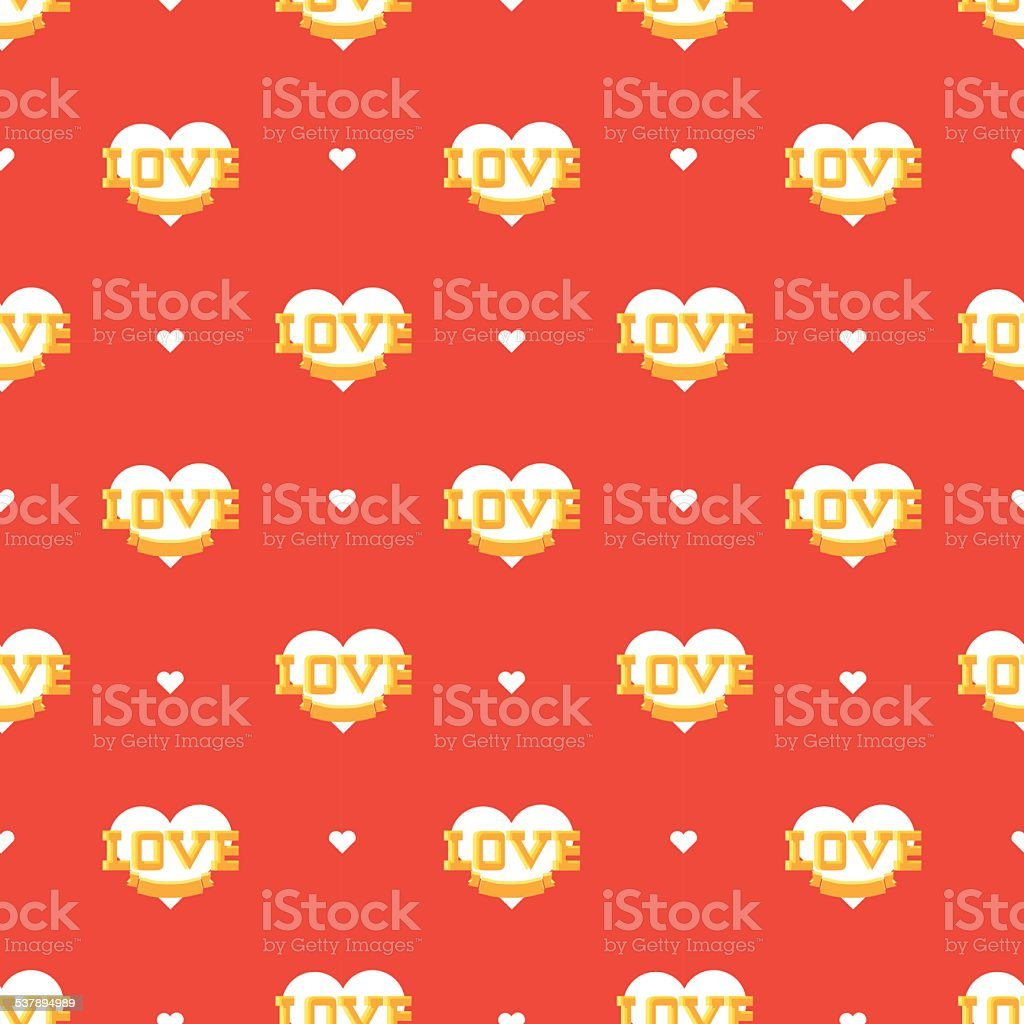 valentines heart pattern vector art illustration