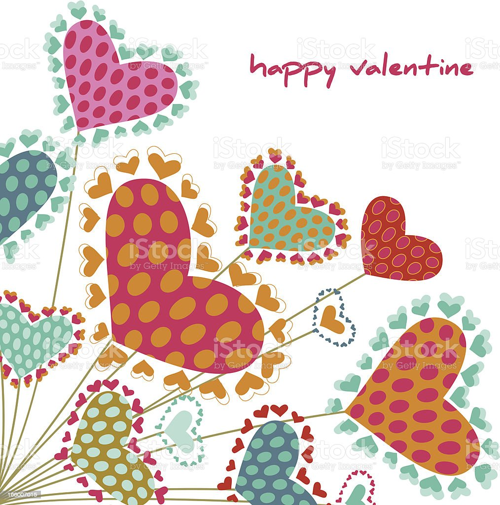 Valentine's heart plant royalty-free stock vector art