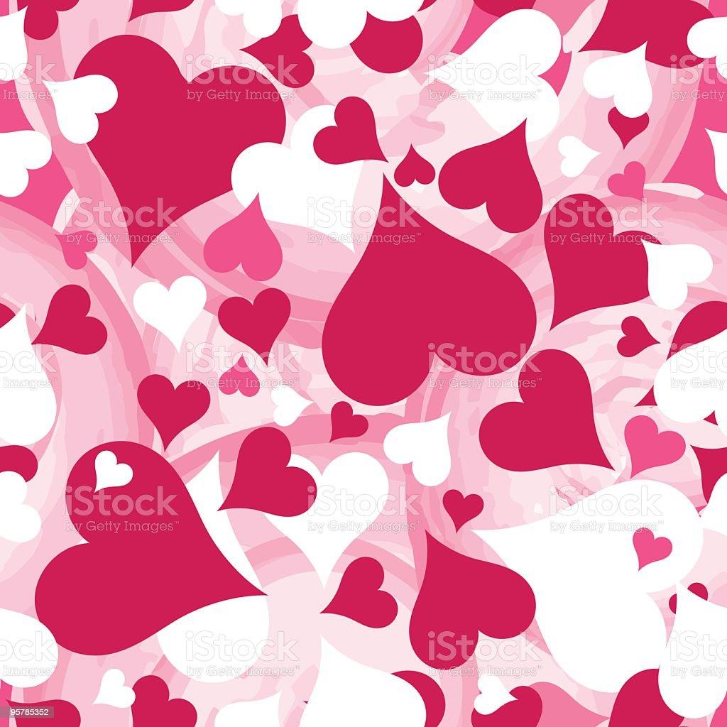 Valentine's Hearts Background vector art illustration