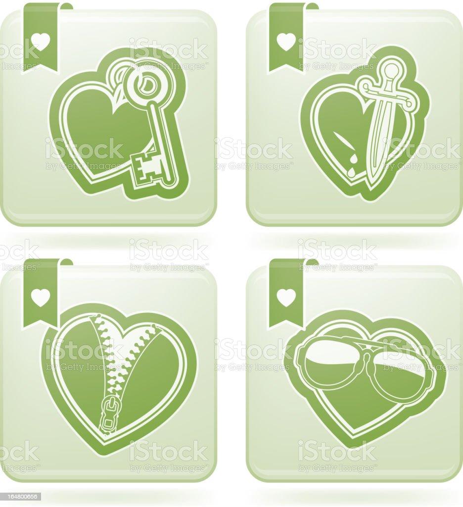 Valentines Hearts royalty-free stock vector art