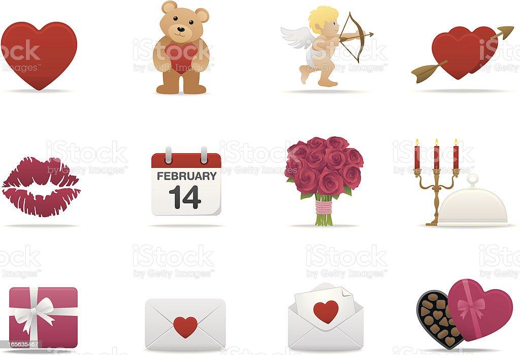 Valentines icons | Premium Matte series royalty-free stock vector art