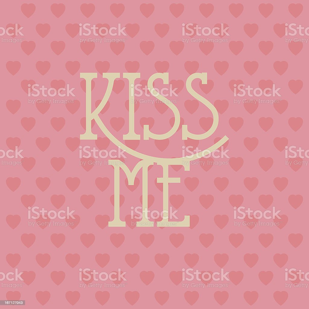 Valentines love background vector art illustration