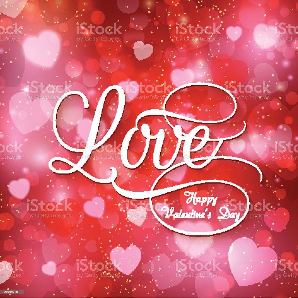 Valentine's love background vector art illustration