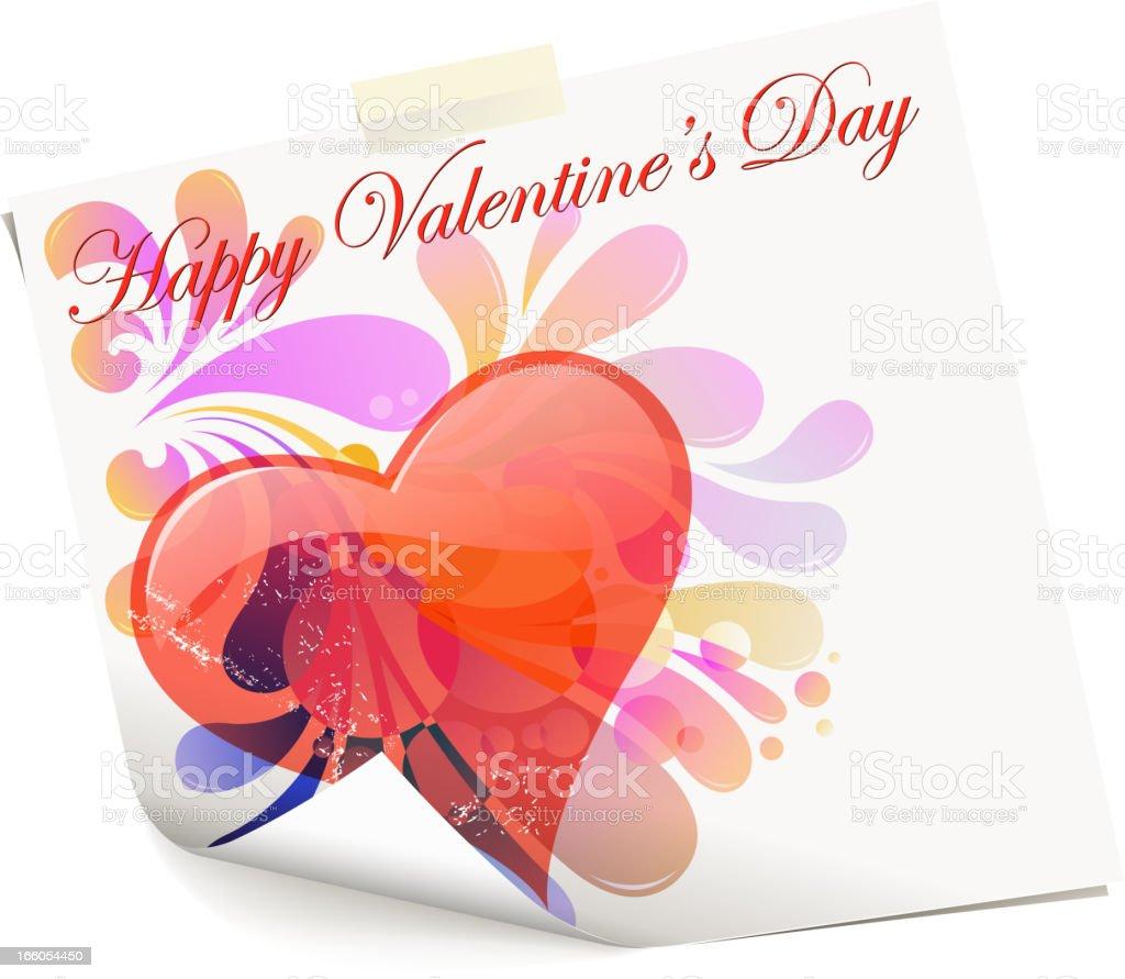 valentine's paper royalty-free stock vector art