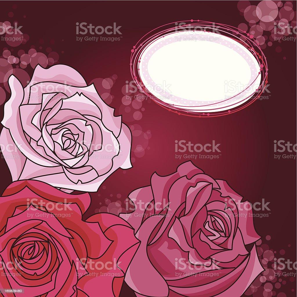 Valentine's Roses royalty-free stock vector art