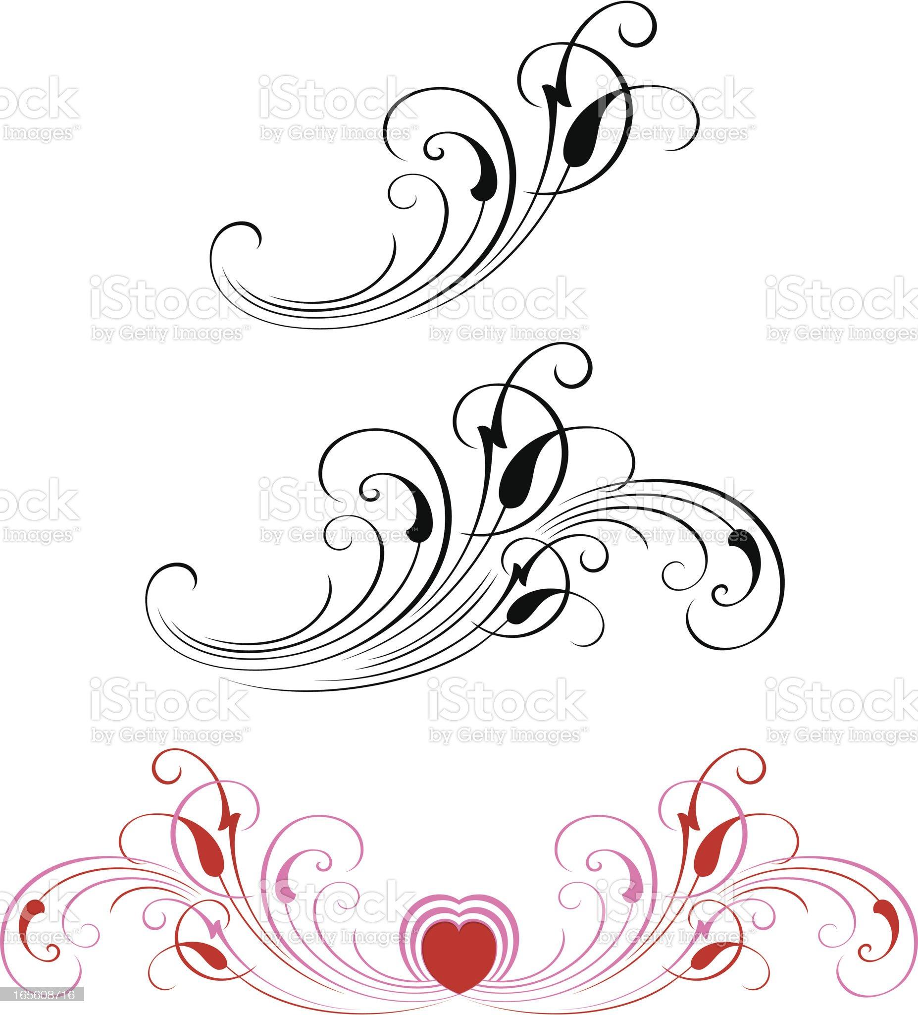 Valentines Scrolls royalty-free stock vector art