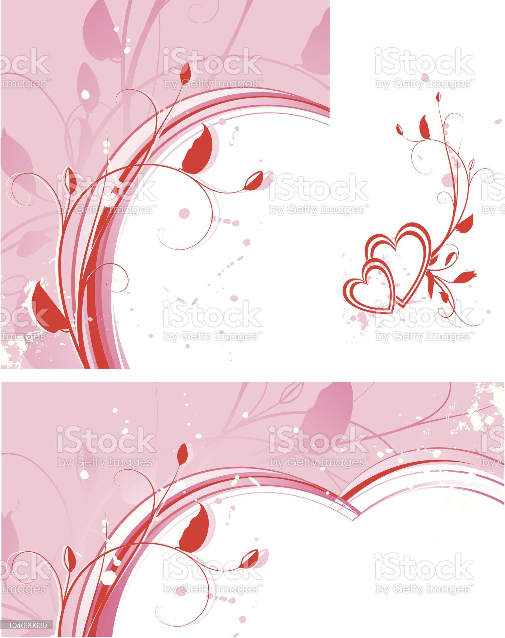 Valentine's set royalty-free stock vector art