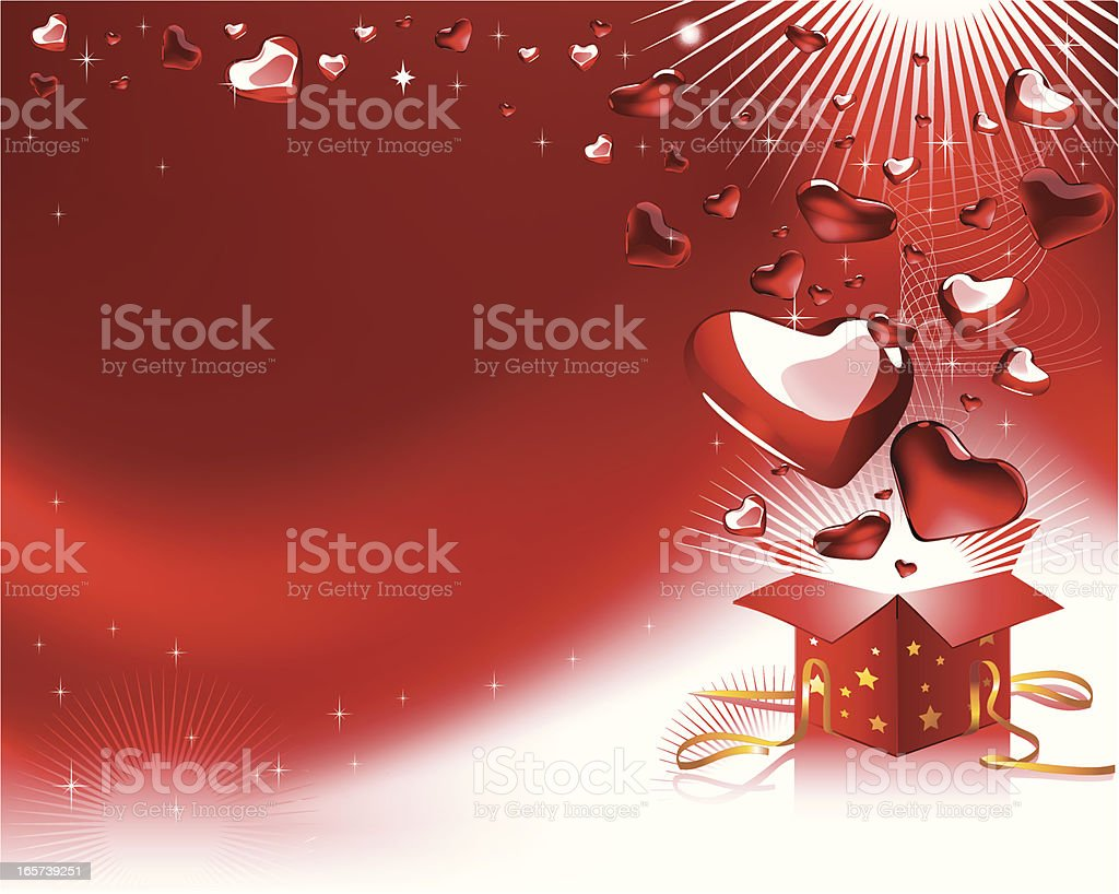 Valentine's vector background royalty-free stock vector art