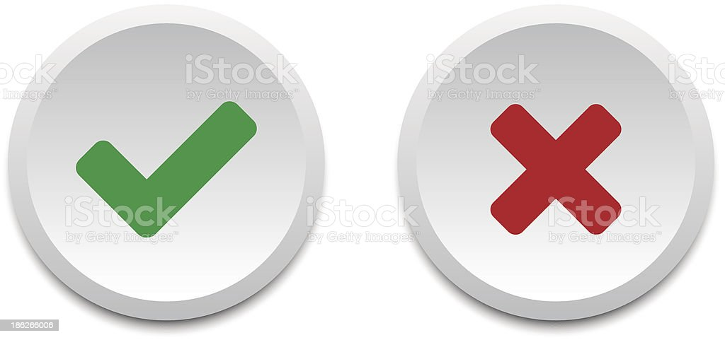 Validation buttons vector art illustration