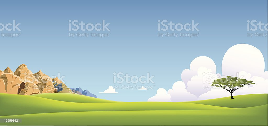 valley and mountain royalty-free stock vector art