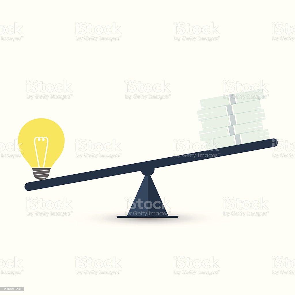Value of idea vector art illustration