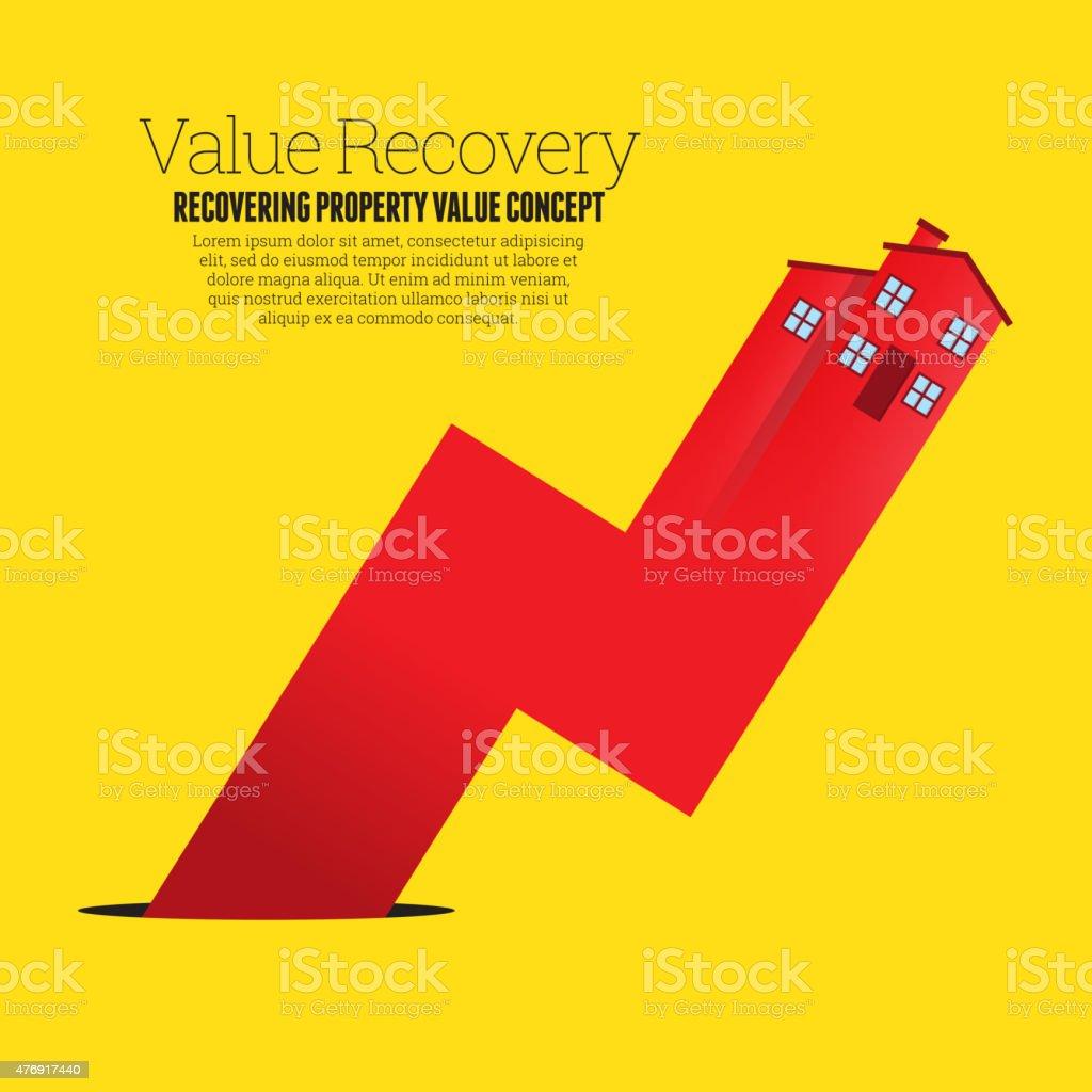 Value Recovery vector art illustration