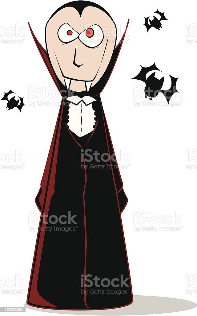 Vampire Cartoon royalty-free stock vector art