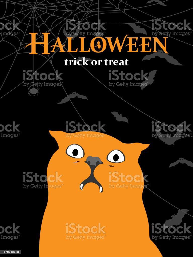 Vampire Cat vector art illustration