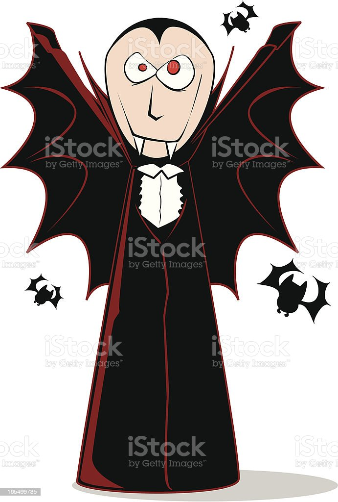 Vampire Cloak Cartoon royalty-free stock vector art