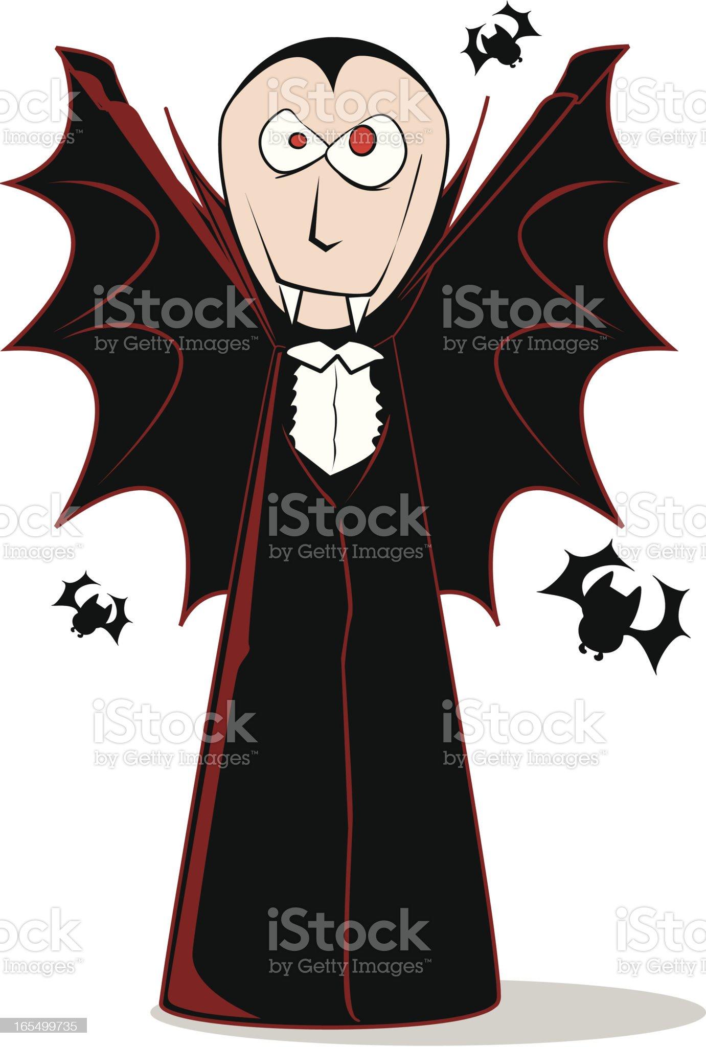 Vampire Cloak Cartoon royalty-free stock vector art