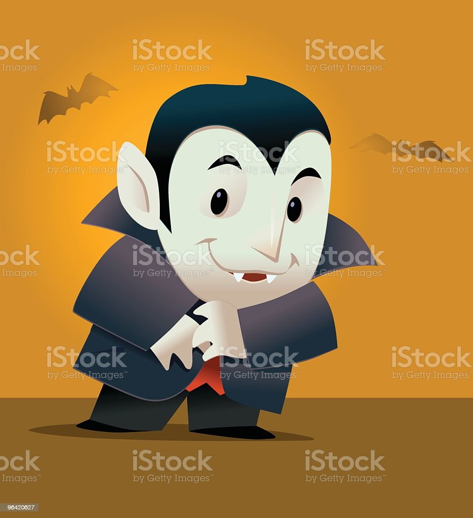 Vampire Flat royalty-free stock vector art