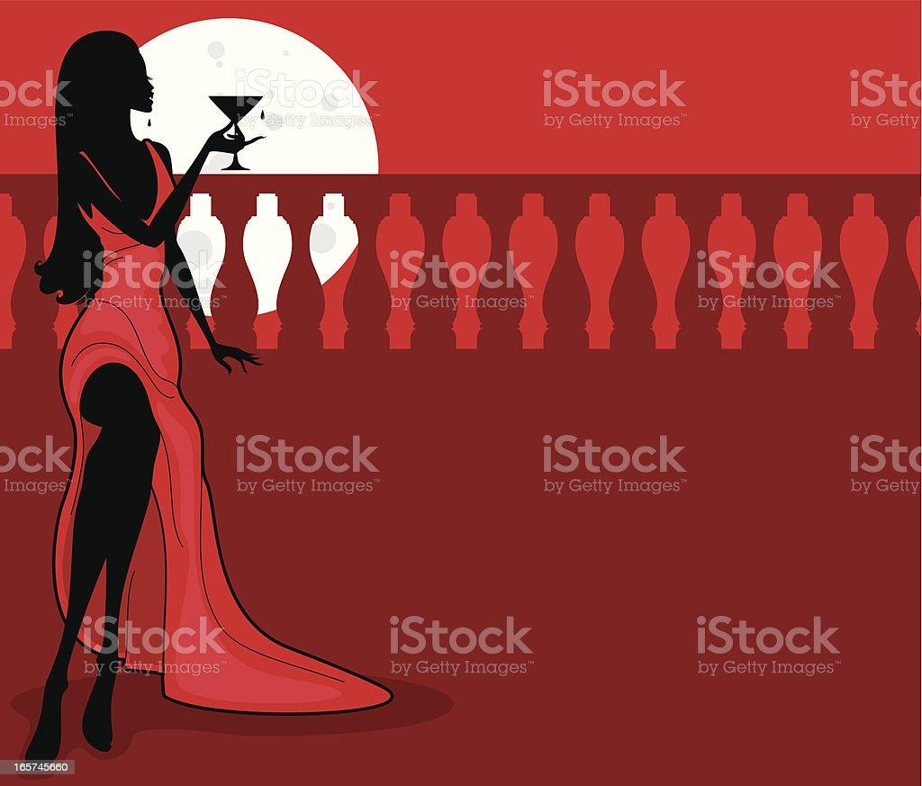 Vampire Glamour royalty-free stock vector art