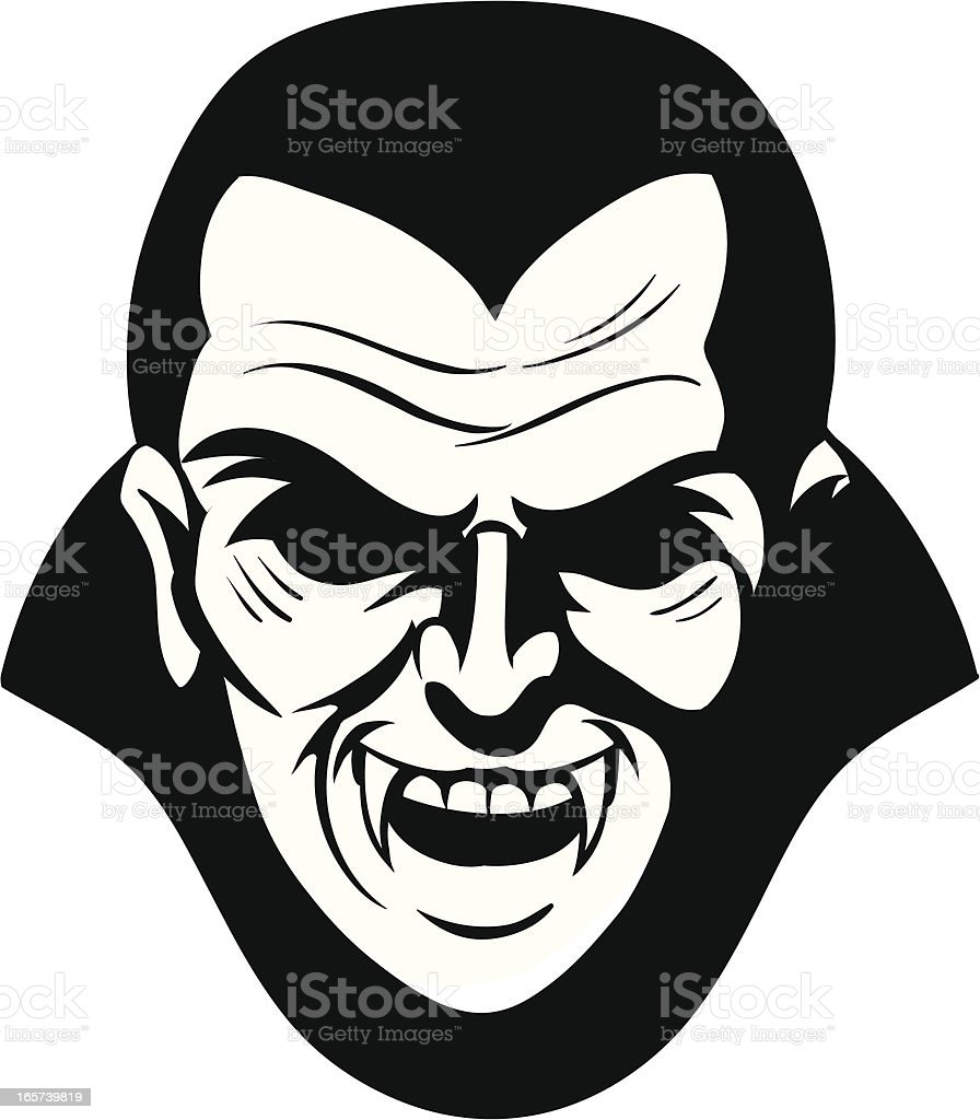 vampire head royalty-free stock vector art
