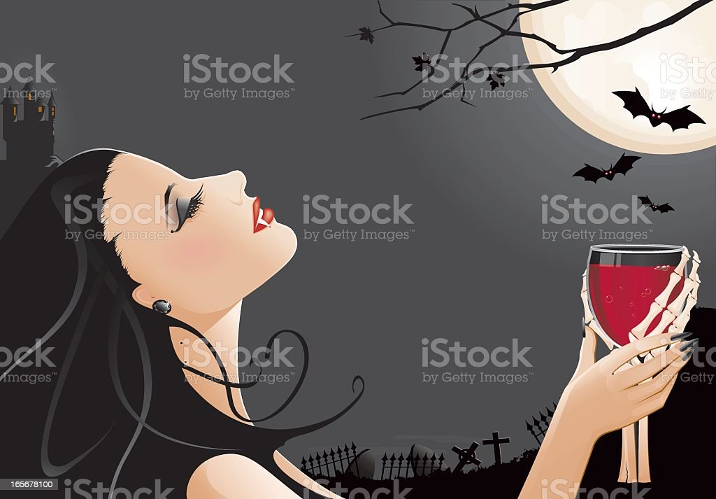Vampire royalty-free stock vector art