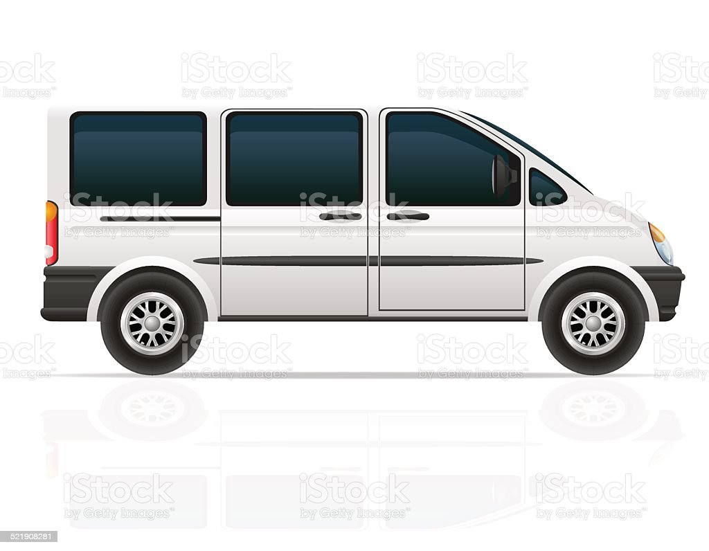 van for the carriage of passengers vector illustration vector art illustration