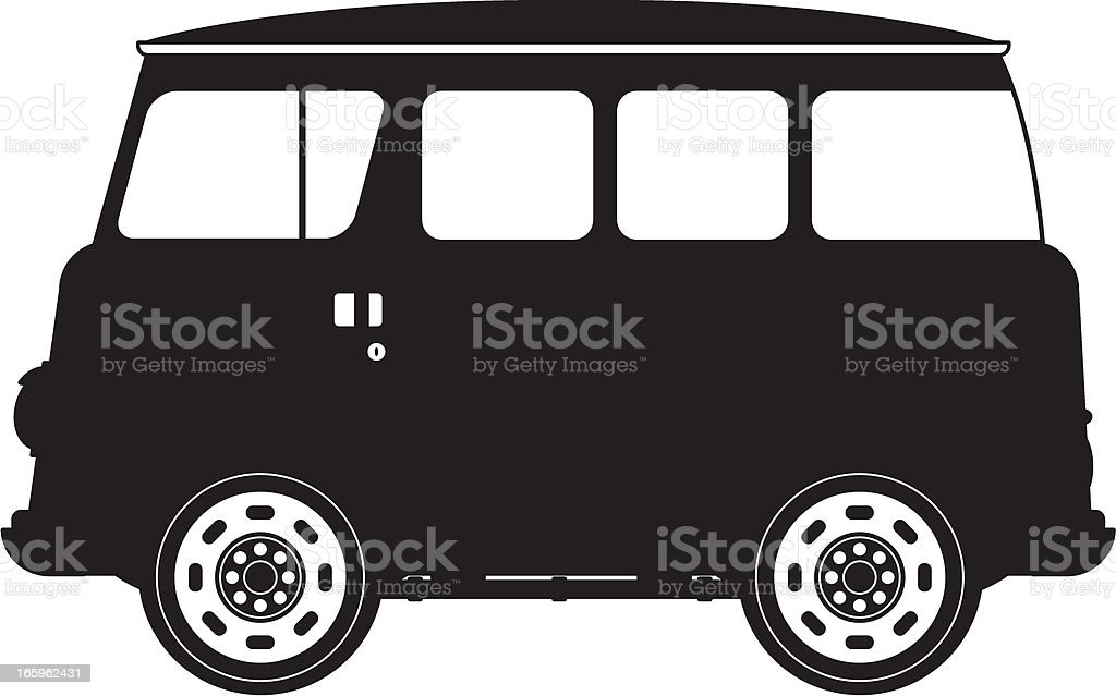 Van in Silhouette royalty-free stock vector art