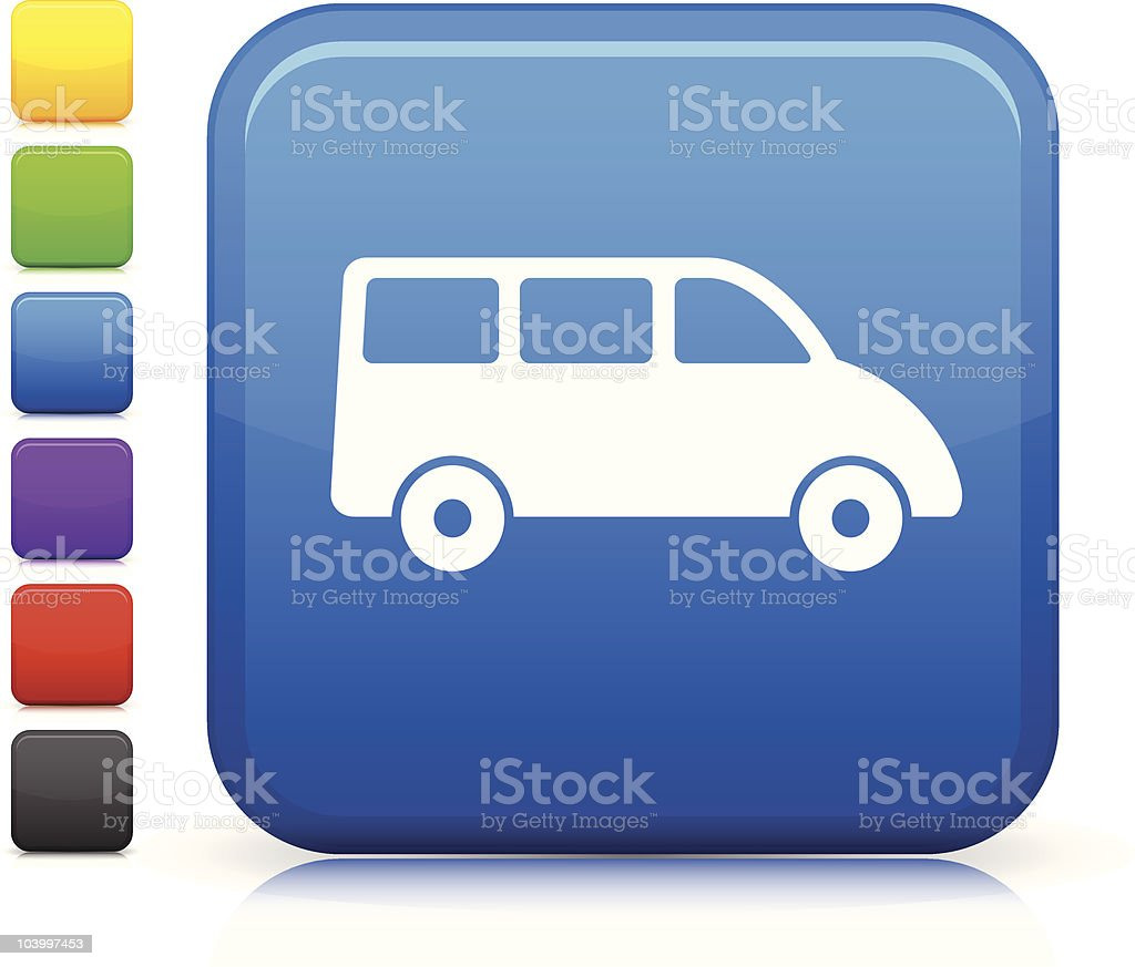 van square icon on internet button royalty-free stock vector art
