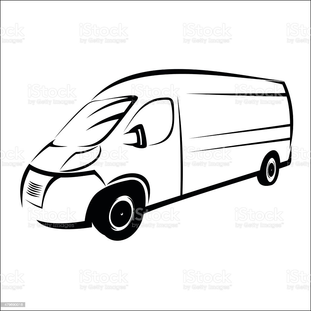 Van symbol vector art illustration