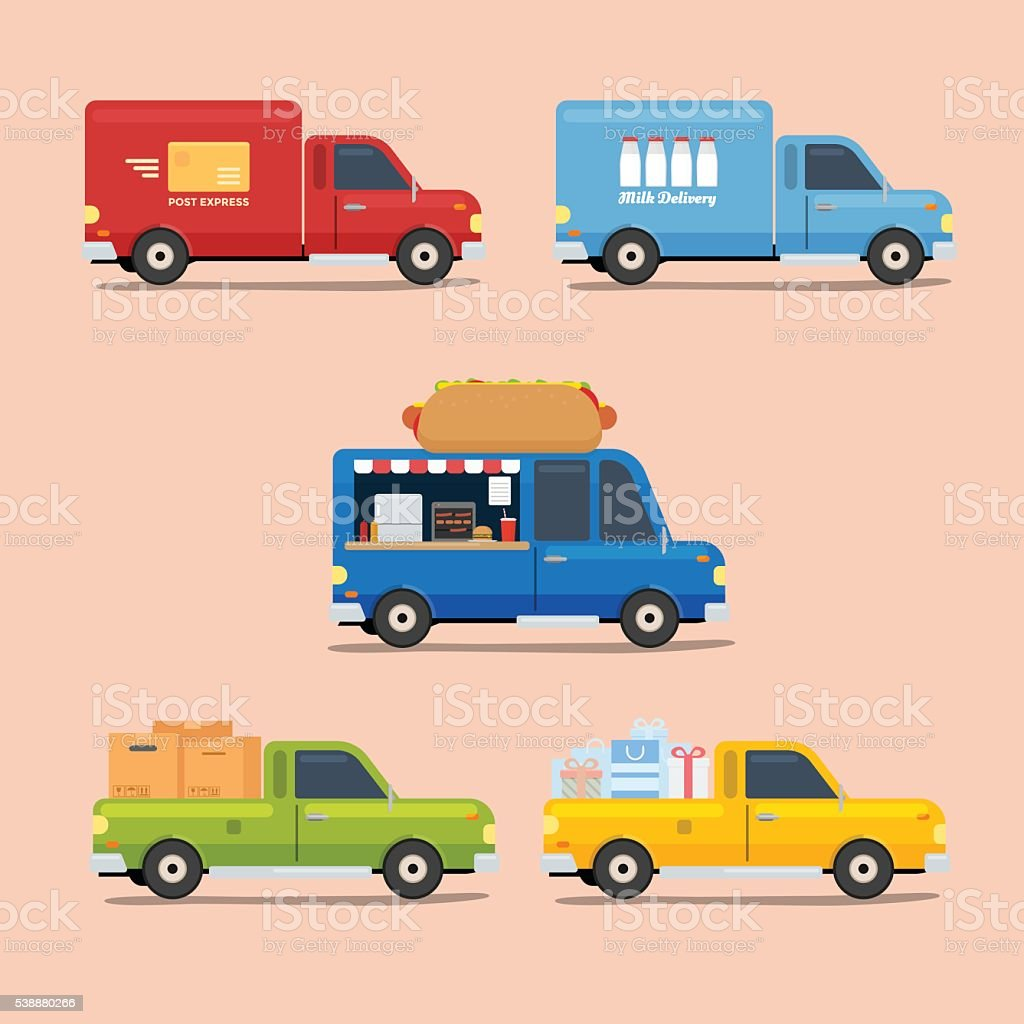 Van Truck Icon vector art illustration