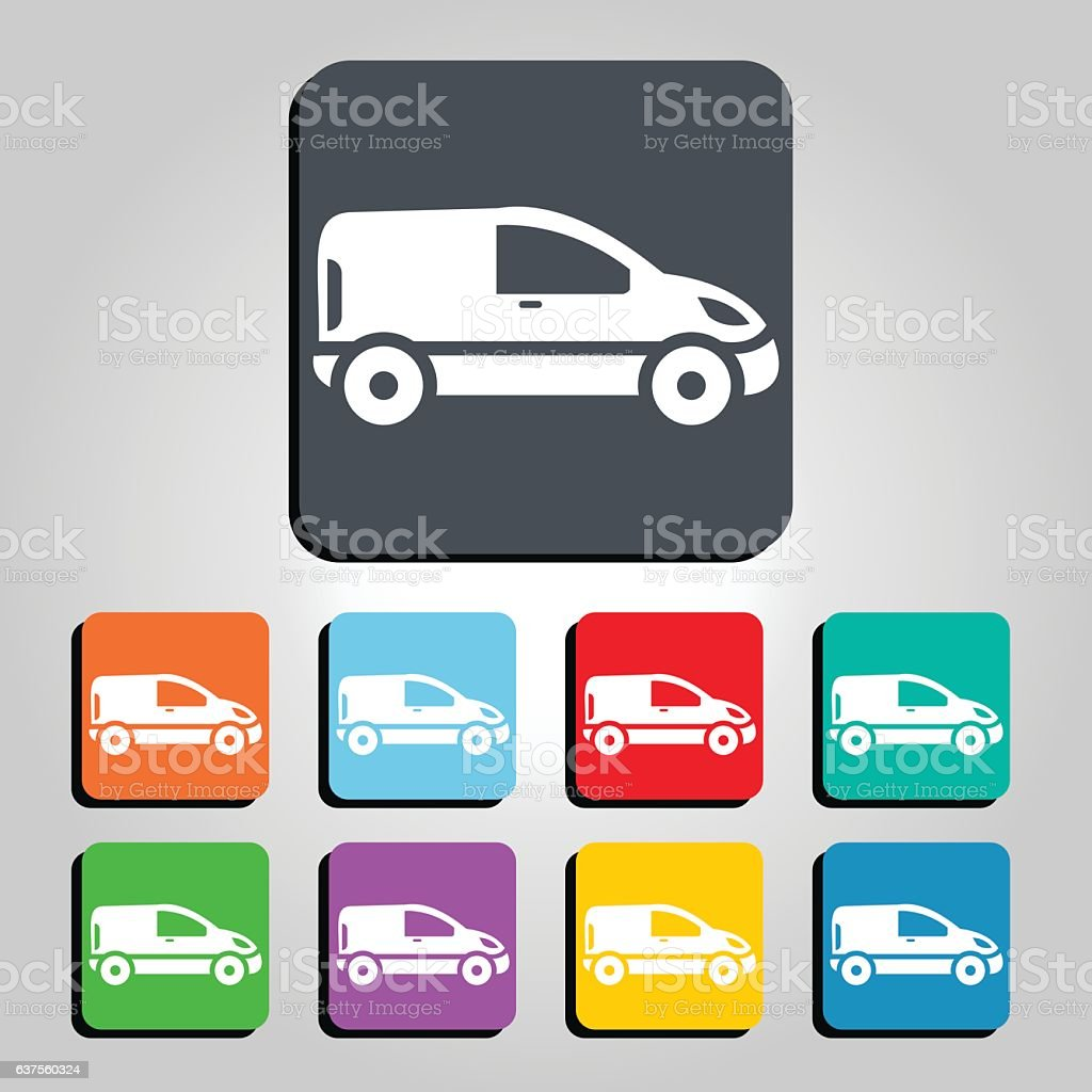 Van Vector Icon Illustration vector art illustration