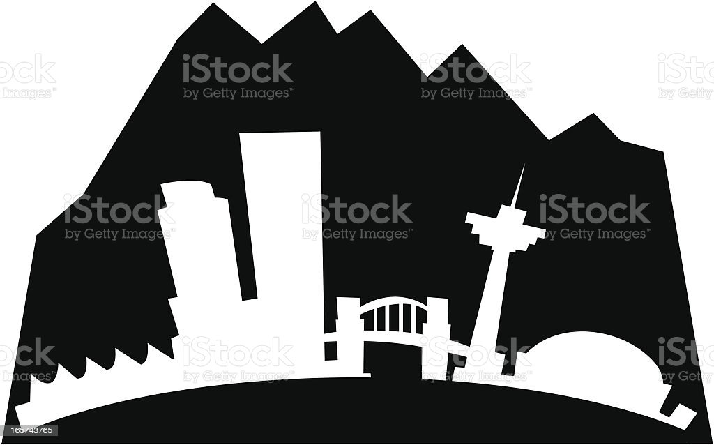 Vancouver Cartoon City royalty-free stock vector art