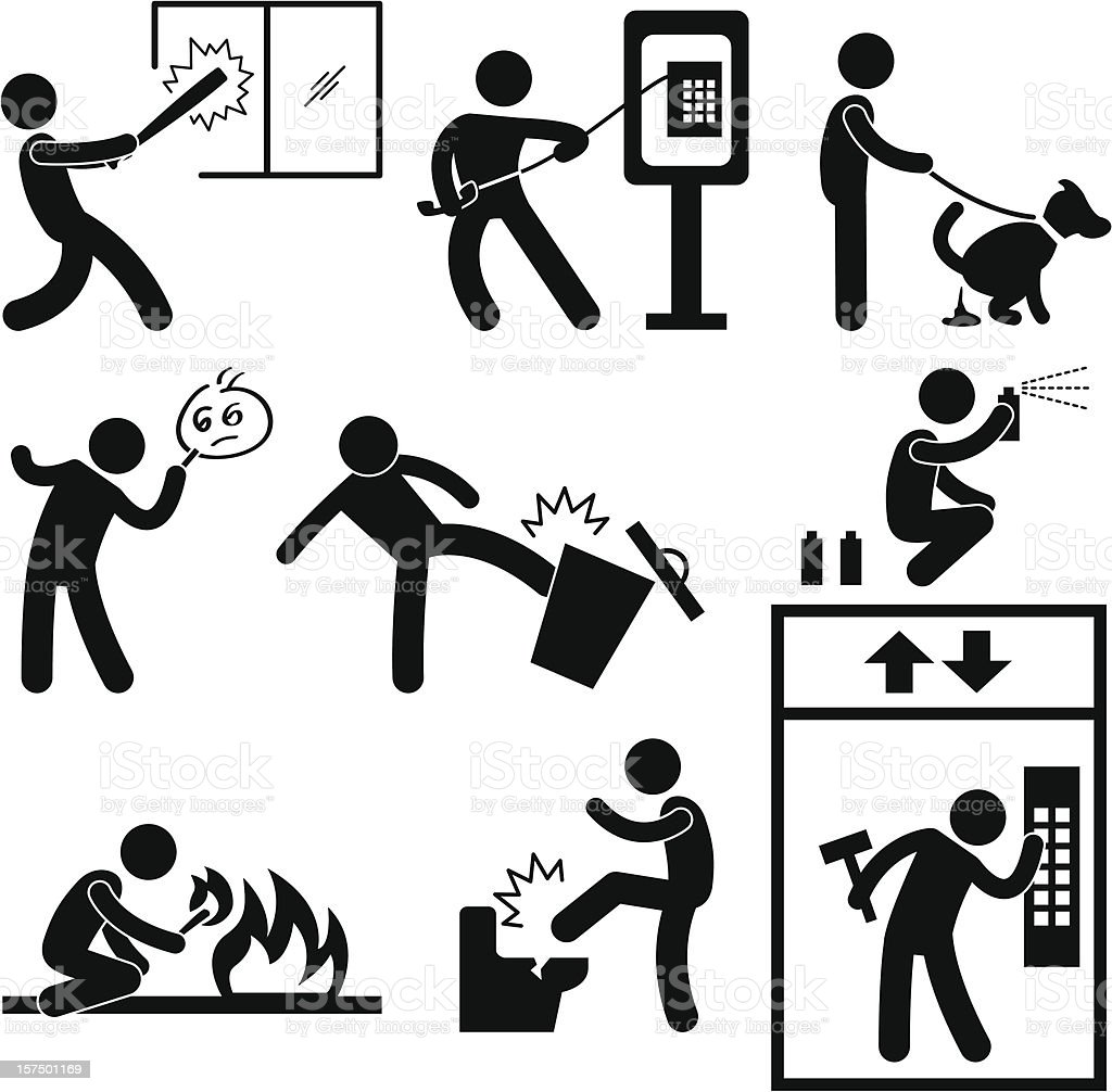 Vandalism Pictogram vector art illustration