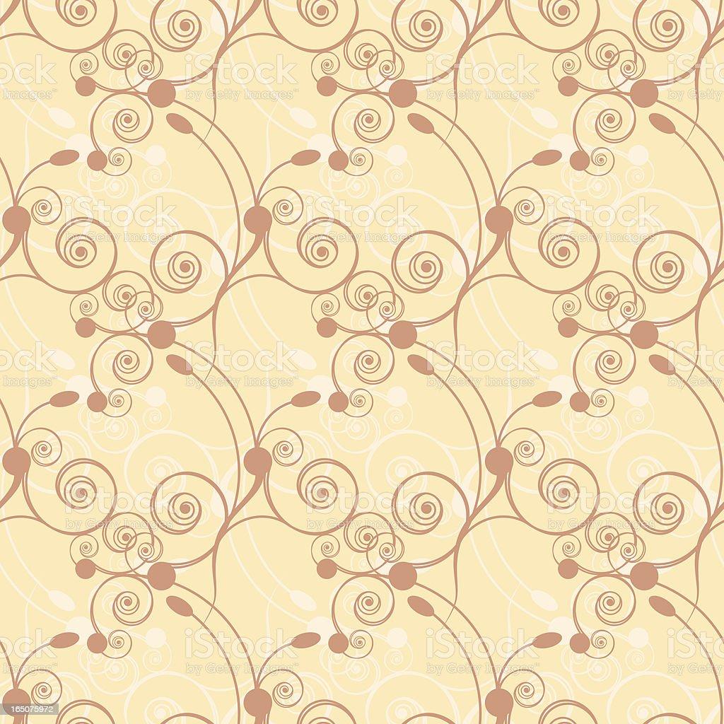 Vanil Seamless Tiled Wallpaper royalty-free stock vector art