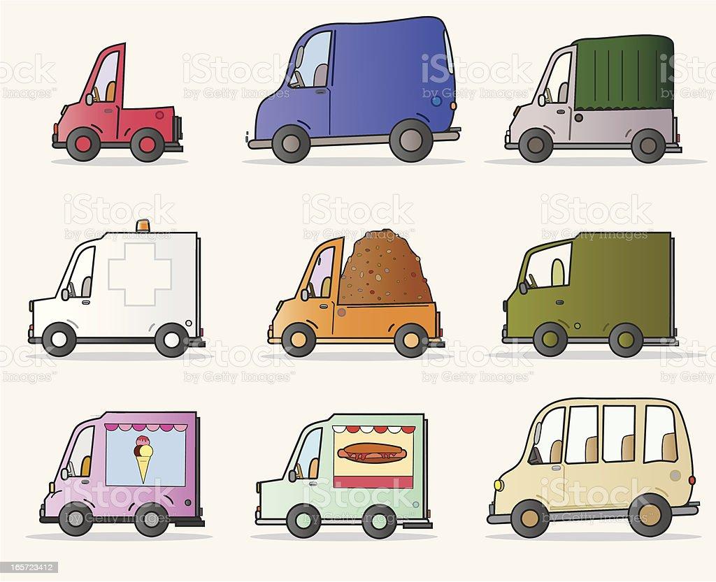 Vans royalty-free stock vector art