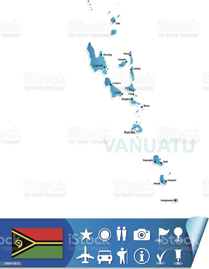 Vanuatu map royalty-free stock vector art
