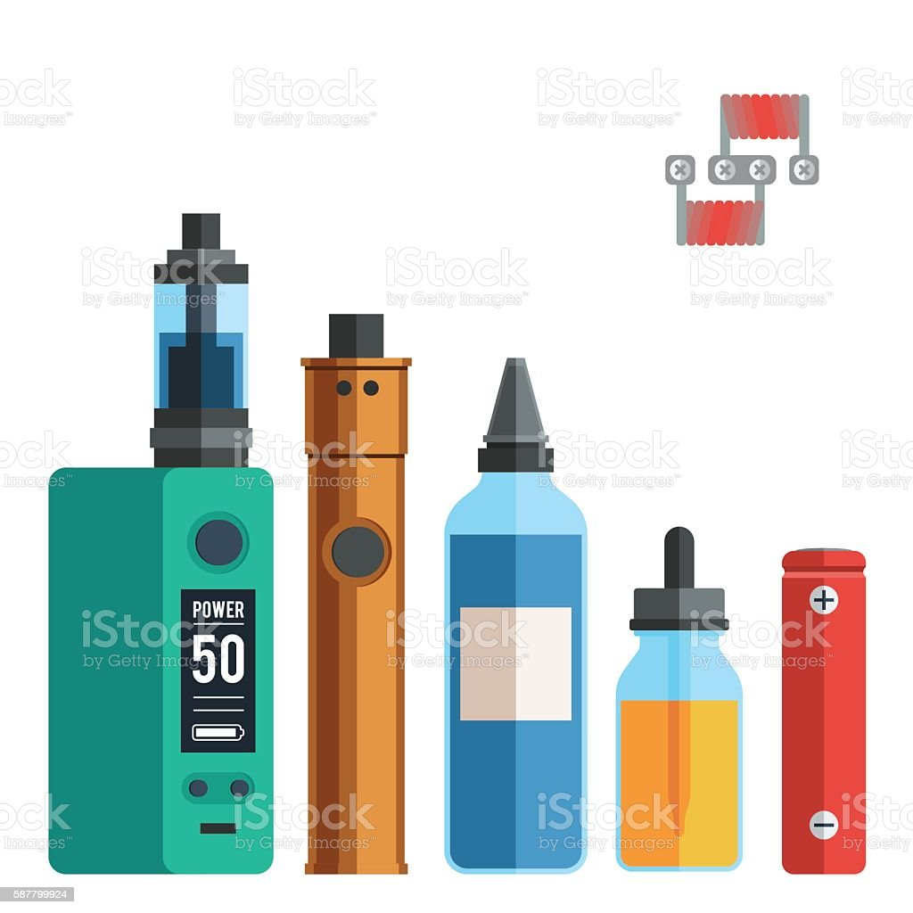 Vape devices vector set vector art illustration