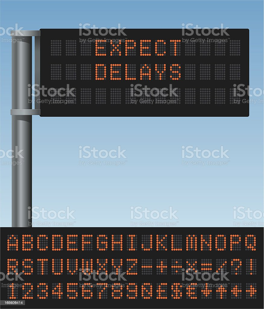 Variable message sign vector art illustration