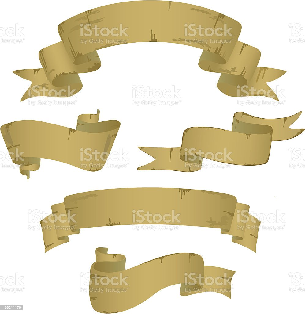 Variants of five banners. royalty-free stock vector art