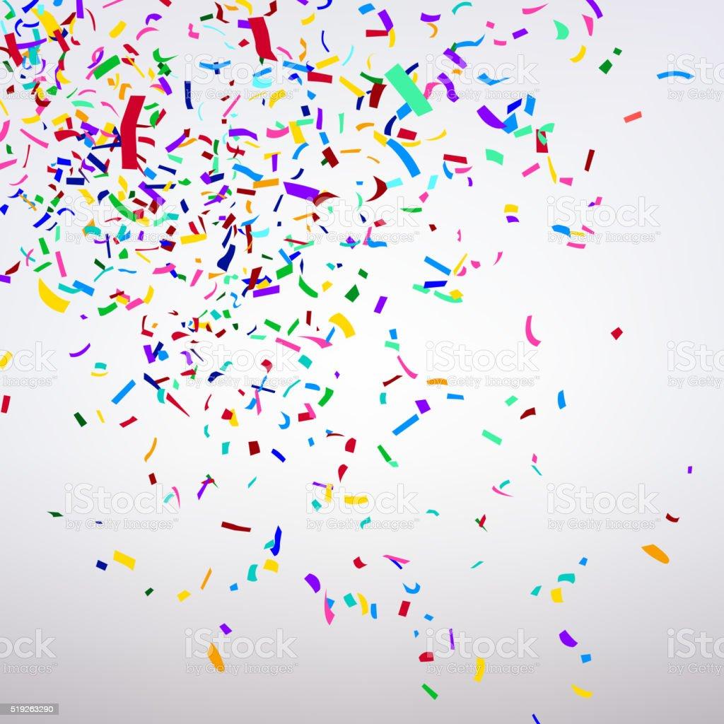 Varicolored Confetti vector art illustration
