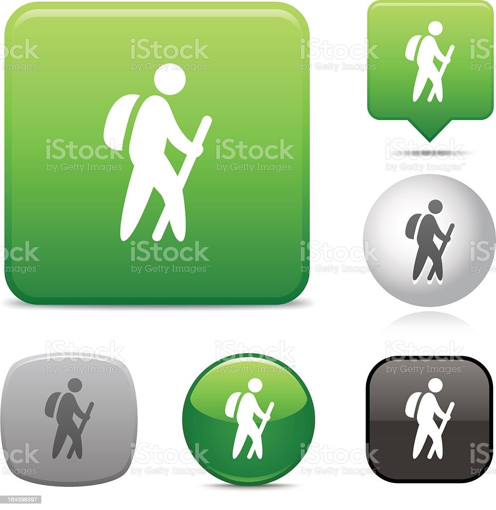 Variety of different icons of a hiking sign royalty-free stock vector art